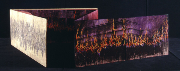 Fire Book, Sea Islands, Cover with panels open