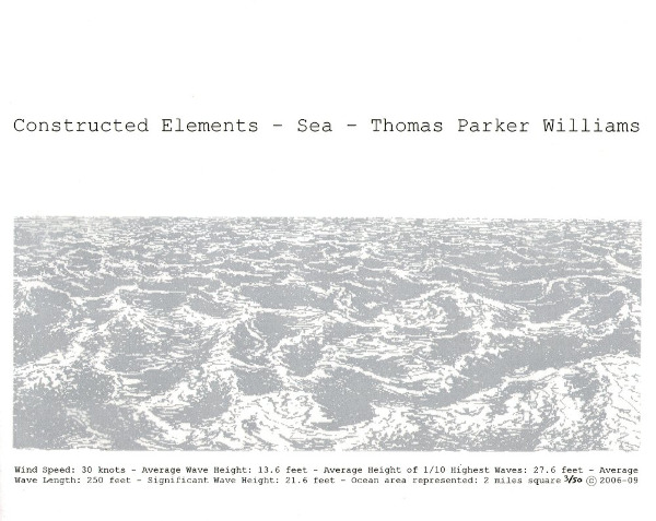 Constructed Elements - Sea Title page